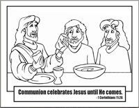 Kidco Labs Resources Downloads Coloring Sheets Communion Coloring Pages