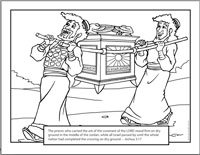 coloring pages ark of the covenant | Kidco Labs - Resources - Downloads - Coloring Sheets